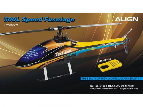 Align T-Rex 500L Speed Body - Rumpf Gelb/Blau