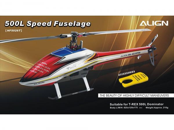 Align T-Rex 500L Speed Body - Rumpf Rot/Weiss
