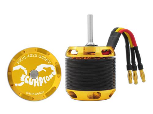 Scorpion HKIII-4025-550KV mit 6mm Welle Brushless Motor