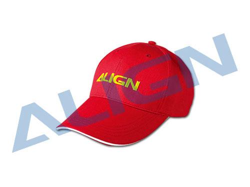 Align Baseball Kappe rot 100% Baumwolle