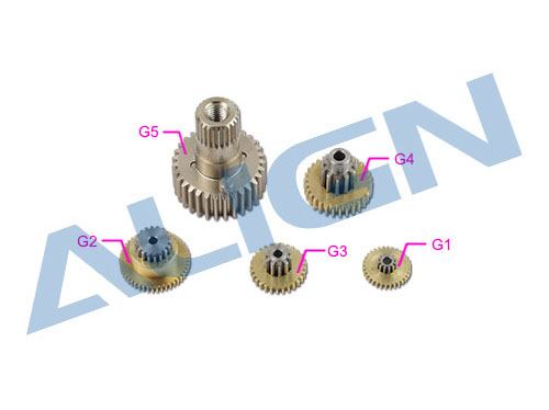 Align DS535 / DS535M Servo Getriebe Set