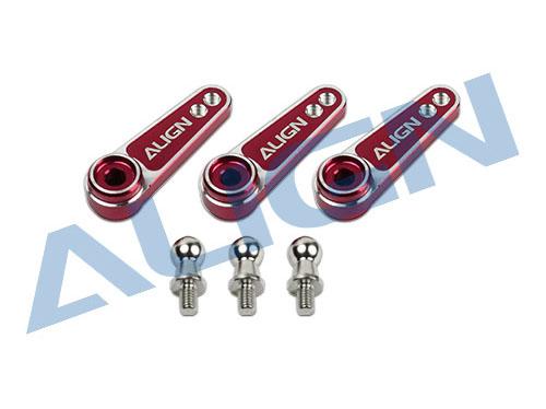 Align D6FF Servohebel Set CNC Alu (M2.5mm) mit Kugelköpfe