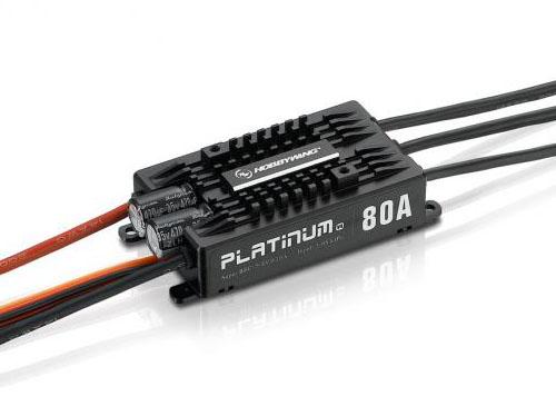 HOBBYWING Platinum Pro 80A V4 3-6S LiPo 10A BEC # HW30203200