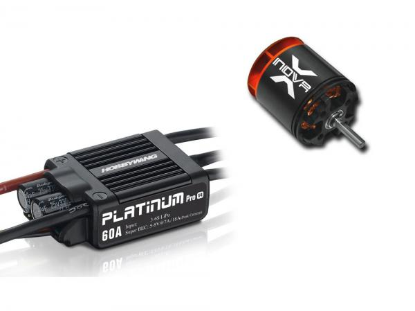 Antriebsset HW Platinum Pro 60A mit XNOVA XTS-2216-4100 # HWPRO60-XTS2216-4100