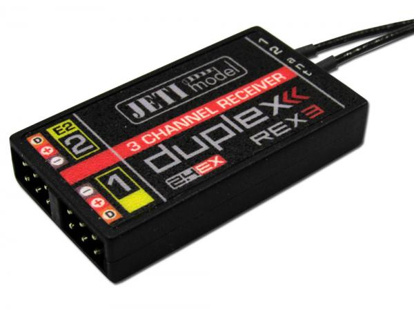 Jeti 3 Channal Receiver Duplex 2.4EX Rex3 40cm Antenna