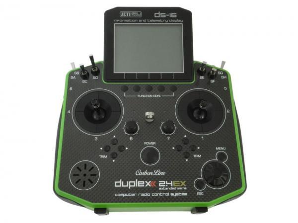 Jeti Hand-Sender DS-16 Carbonline Multimode Green Edition 16 Kanal