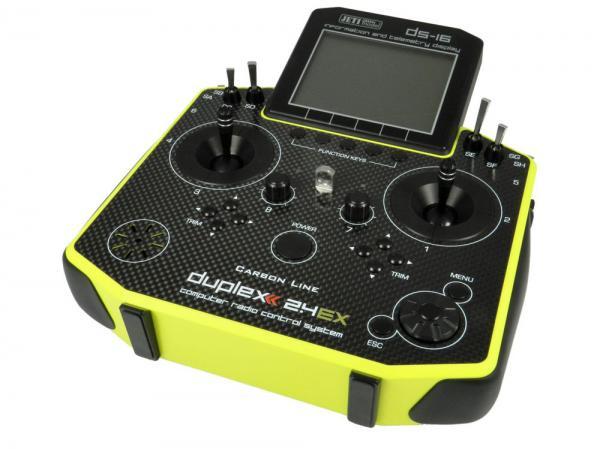 Jeti Hand-Sender DS-16 Carbonline Multimode Yellow Edition 16 Kanal