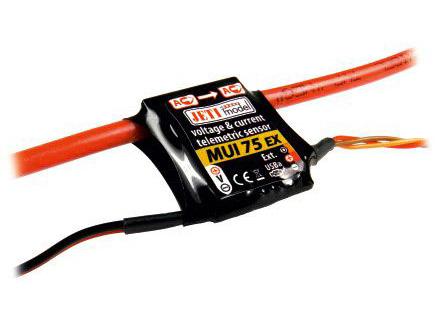 Jeti Spannungs und Stromsensor zu Duplex System MUI75-EX