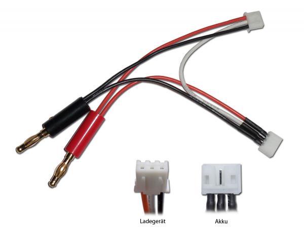 Ladekabel (E-flite/Blade) mit UMX für Akku / XH für Ladegerät und 4mm Banane
