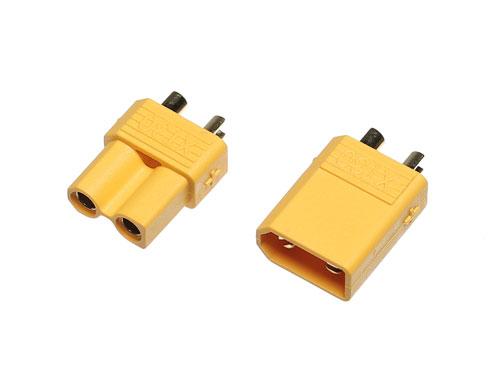 Goldkontakt Stecker/Buchse mit Gehäuse gelb Set (XT30)