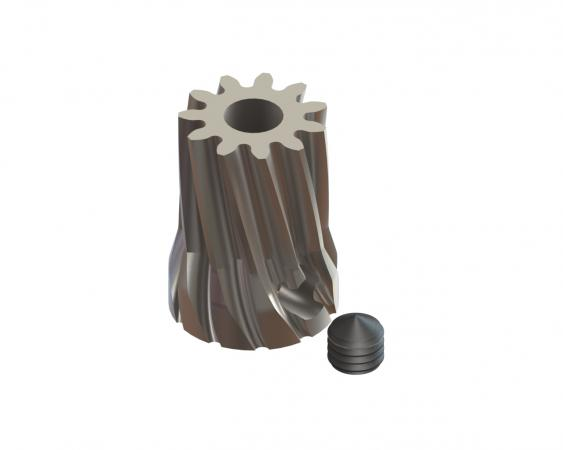 LYNX Ritzel schrägverzahnt 12 Zähne Modul 0.6 X 3.17 mm Welle