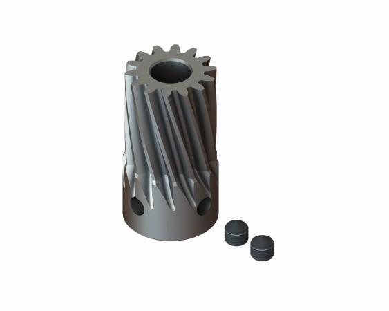 LYNX Ritzel schrägverzahnt 14 Zähne Modul 0.7 X 5 mm Welle