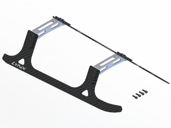 LYNX T-REX 550E / 600E Landegestell komplett Carbon/Alu - silber