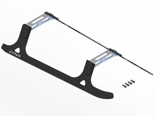 LYNX T-REX 800E Landegestell komplett Carbon/Alu - silber