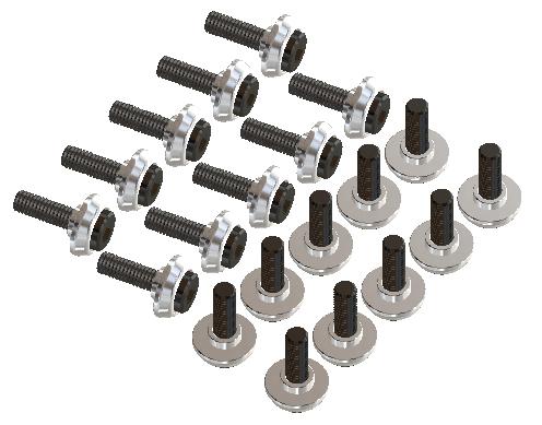 LYNX T-REX 600/700/800 Schraubenset M3 X 10 (20 Stück)