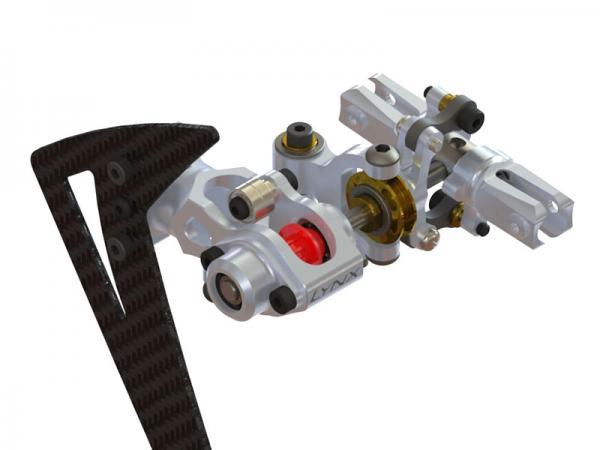 LYNX Blade 300X/CFX Alu Heck komplett - silber