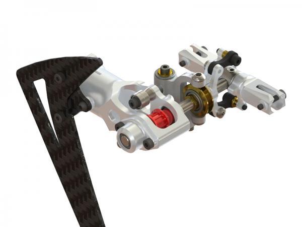 LYNX Blade 450X Alu Heck komplett - silber