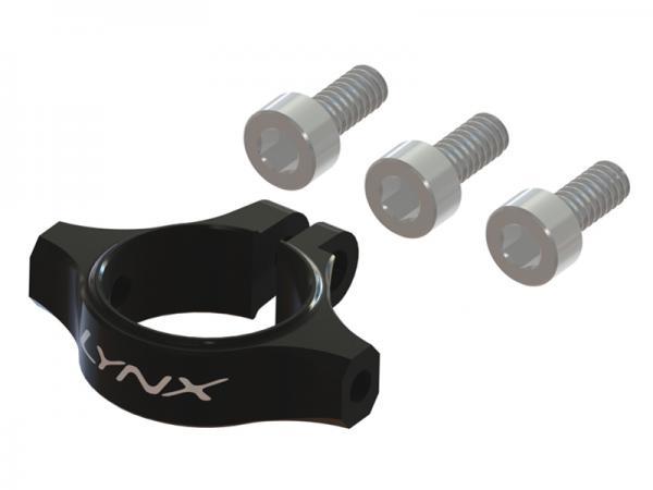 LYNX Blade 180 CFX Alu Heckabstrebungshalterung - schwarz