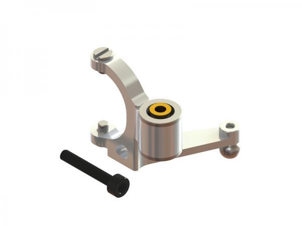 LYNX Blade 180 CFX CNC Alu Pitchumlenkhebel - silber