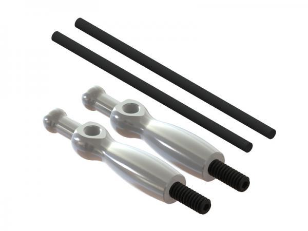 LYNX Blade 180 CFX Alu Haubenhalterung - silber
