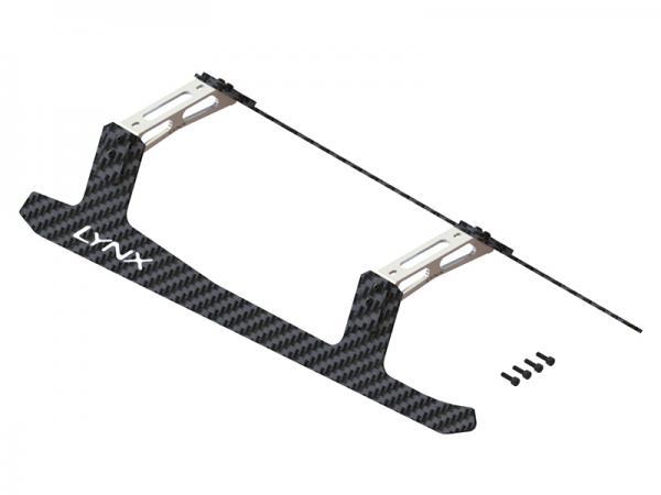 LYNX T-REX 700E Landegestell komplett Carbon/Alu - silber