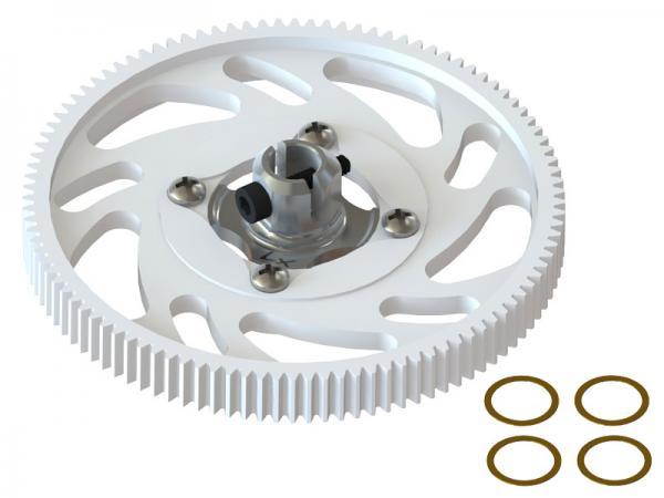 LYNX Blade 180 CFX Hauptgetriebe mit Hauptwellenhalterung - silber