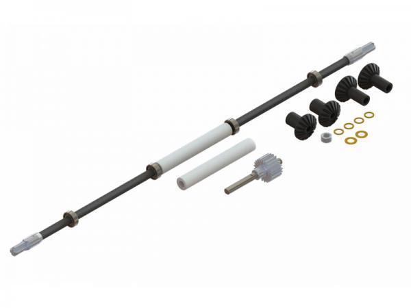 LYNX Blade 180 CFX Ultra Carbon Stahl Winkelgetriebe - Heckantriebsset