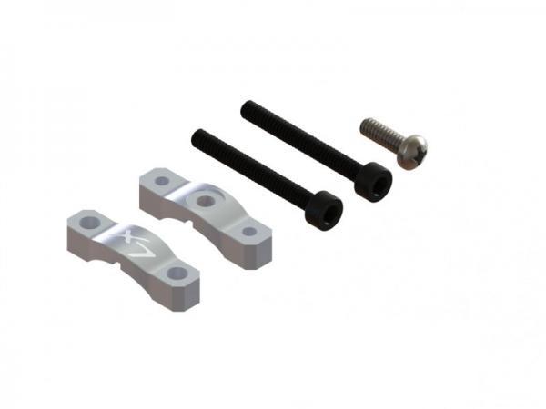 Lynx Blade 180 CFX Ultra Alu Heckrohrhalterverstärkung - Silber