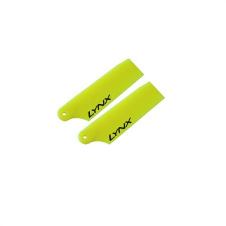 LYNX Kunststoff Heckrotorblätter 29 mm - Neon Gelb