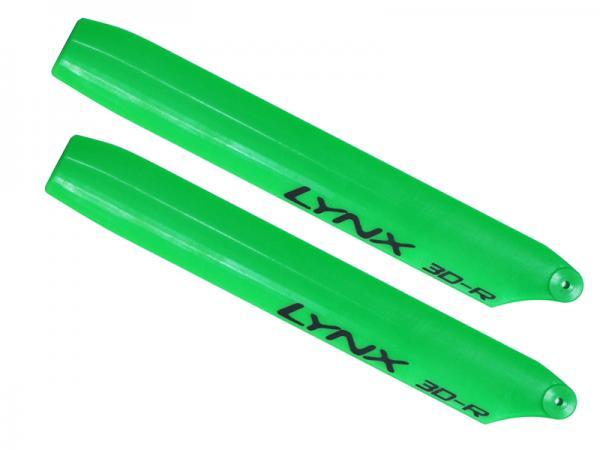 LYNX Kunststoff Hauptrotorblätter 135 mm Replica Edition - grün