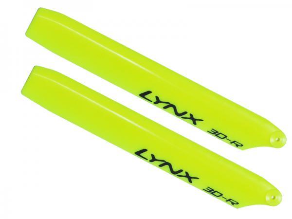 LYNX Kunststoff Hauptrotorblätter 135 mm Replica Edition - gelb