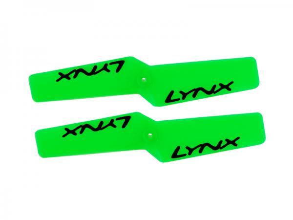 LYNX Kunststoff Heckrotorblätter 42 mm - Neon Grün