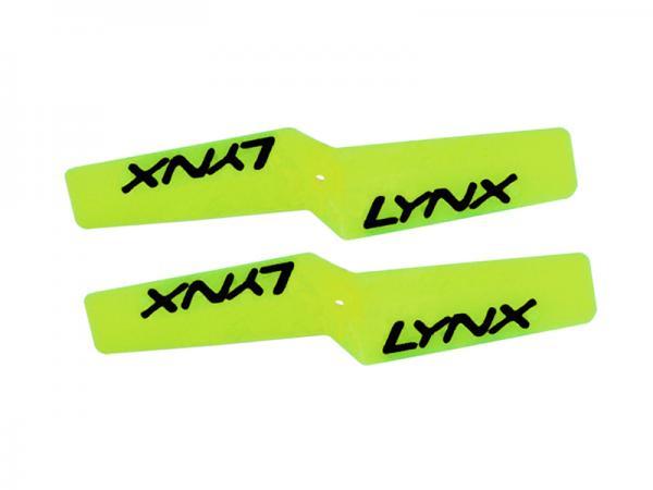 LYNX Kunststoff Heckrotorblätter 42 mm - Neon Gelb