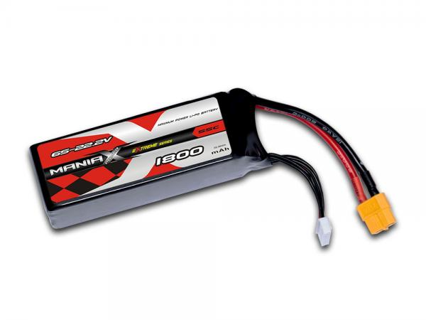 ManiaX LiPo 6S 1800mAh 22.2V eXtreme 55C