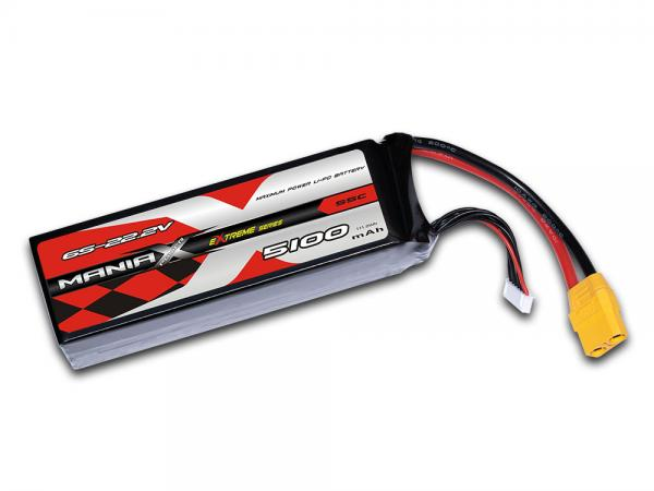 ManiaX LiPo 6S 5100mAh 22.2V eXtreme 55C