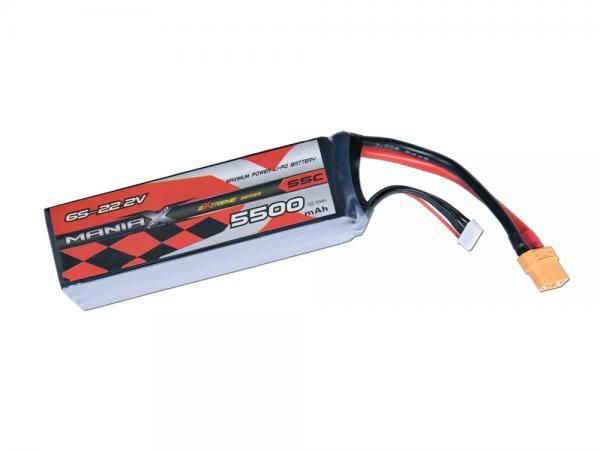 ManiaX LiPo 6S 5500mAh 22.2V eXtreme 55C