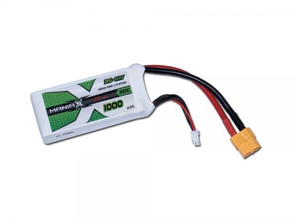 ManiaX LiPo 3S 1000mAh 11.1V ECO 30C