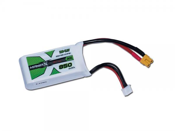 ManiaX LiPo 3S 850mAh 11.1V ECO 30C