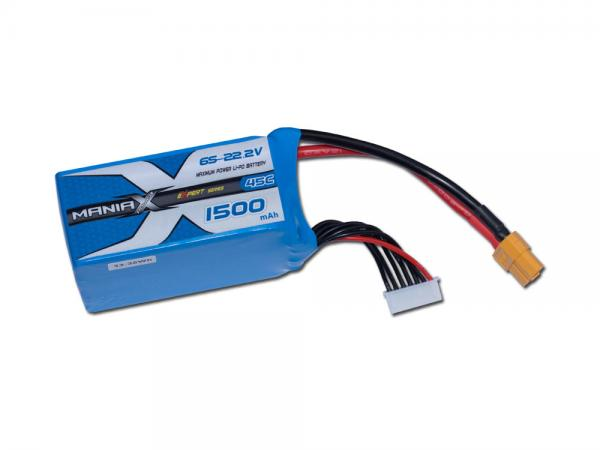 ManiaX LiPo 6S 1500mAh 22.2V eXpert 45C