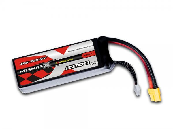 ManiaX LiPo 6S 2200mAh 22.2V eXtreme 55C