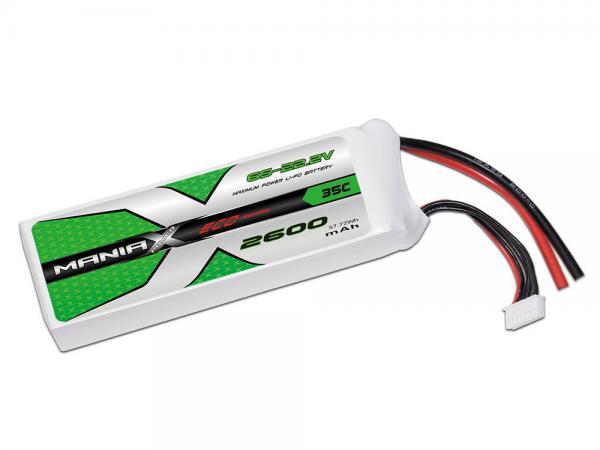 ManiaX LiPo 6S 2600mAh 22.2V ECO 35C
