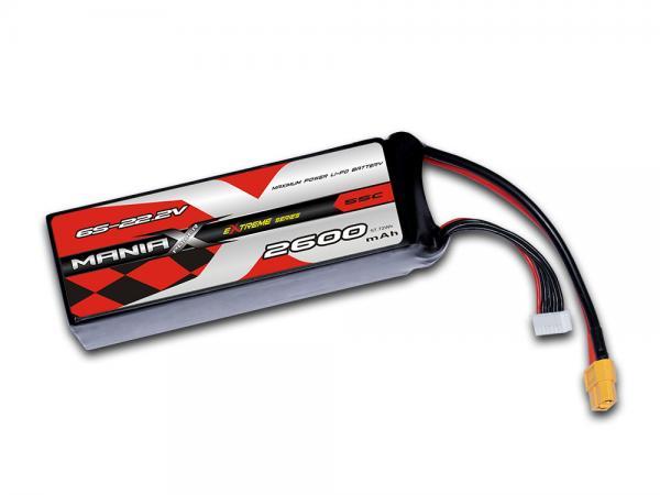 ManiaX LiPo 6S 2600mAh 22.2V eXtreme 55C