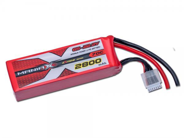 ManiaX LiPo 6S 2800mAh 22.2V eXtreme 70C