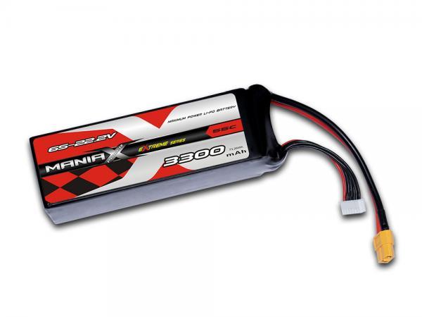 ManiaX LiPo 6S 3300mAh 22.2V eXtreme 55C