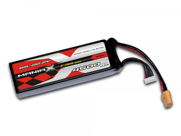 ManiaX LiPo 6S 4500mAh 22.2V eXtreme 55C