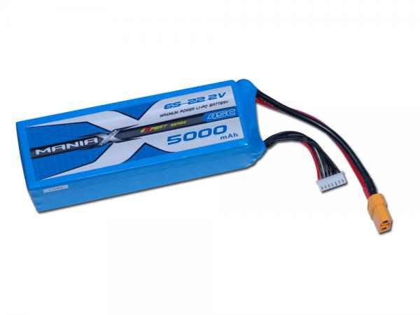 ManiaX LiPo 6S 5000mAh 22.2V eXpert 45C