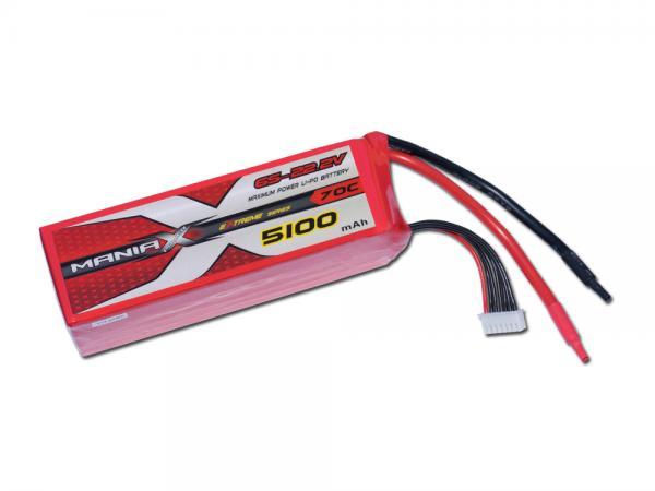 ManiaX LiPo 6S 5100mAh 22.2V eXtreme 70C