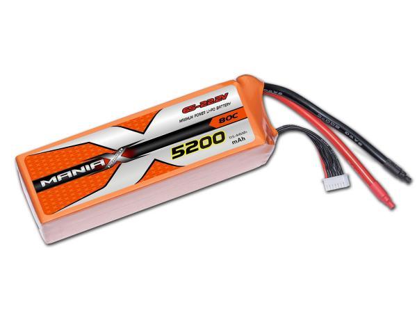 ManiaX LiPo 6S 5200mAh 22.2V Orange 80C