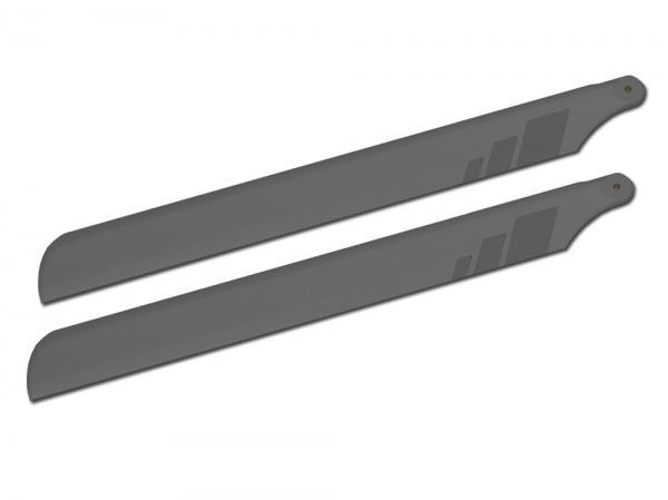 SpinBlades matt grey scale Halbsymmetrisches Blatt 710 mm