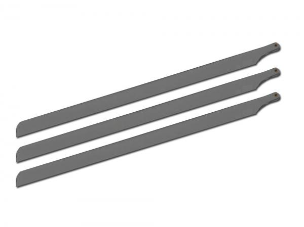 SpinBlades matt black scale 3 Blatt Satz Länge 520 mm